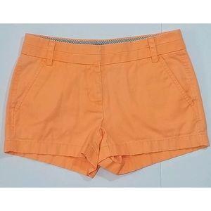 """J Crew 3"""" Tangerine Chino Shorts"""